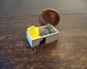 Miniature Country,wooden box  with kitchen sponges