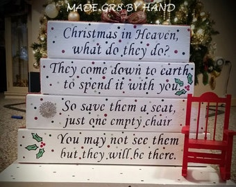 Christmas in Heaven table top display by gr8byz READ CREATION TIME and item details