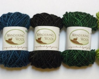 Mini Skeins - Hand Dyed Sock Yarns - Set of 5