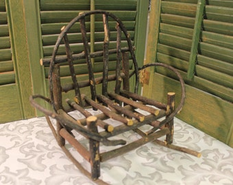 Willow Chair - Miniature Garden Twig Chair