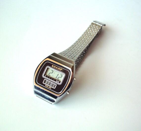 vintage sharp solar lcd digital