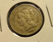 1866 Three-Cent Nickel Piece- XF