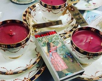 Candle Vintage Teacups