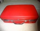 Vintage RED Luggage Suitcase Weekender American Tourister
