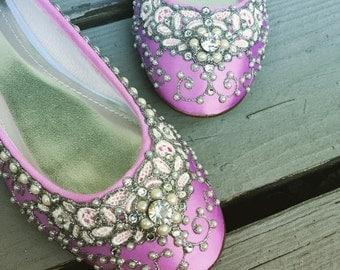 SALE - size 7.5 Candy Pink Ballet Flats
