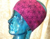 Sacred Headband - Hand Dyed Flower of Life