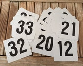 Vintage Numbers Black and White