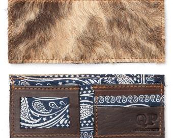 Brendel Cowhide Blue Bandana Men's Bifold Wallet