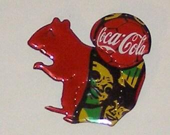 SQUIRREL Magnet - Coca-Cola Soda Can
