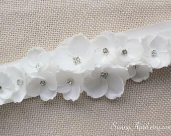 White/ Off-white Sash/ CHOOSE YOUR COLOR Sash/ Bridal Wedding Ribbon Sash/ Handmade Accessory