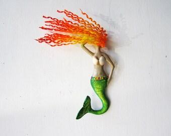 Mermaid wall art-  bathroom decoration