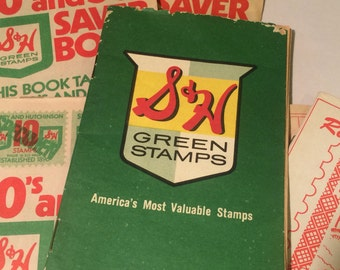 Green stamps and savings stamps from the 1960s