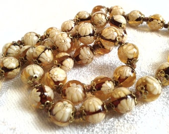 Vintage Venetian, Murano Glass Bead necklace, 50s