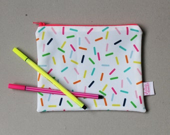 Sprinkles zip pouch pencil case