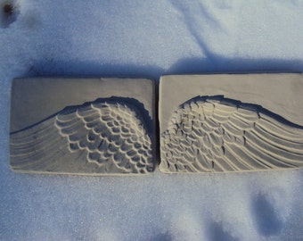 Wings, Angel Wings, Natural Cement Angel Wings   Pair Inside/Outside