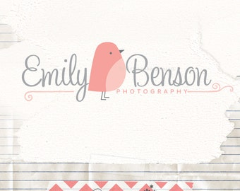 Premade Photography Logo and Watermark - Bird Logo - cheap logo - logo design - watermark logo