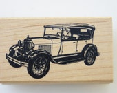 Model A Ford rubber stamp Classic Status Stamp Co wood mounted RARE Classic car
