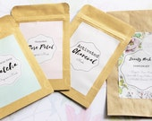 Beauty Mask Sampler Trio, green tea mask, activated charcoal, rose petal mask