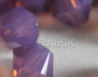 Swarovski Bicone 4mm Crystal Beads Xilion 5328 CYCLAMEN OPAL - Chose Quantity