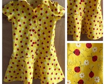 Ladybug Camp Shirt Dress, size 4t
