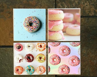 Donuts Coaster Set