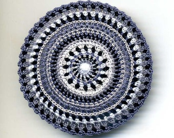Dollhouse Miniature Mat Carpet Rug - Shades of Gray and Black
