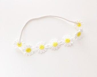 Small Yellow Daisy Elastic Headband