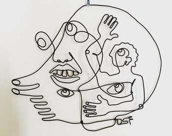 Intuitive Portrait 3 Wire Wall Art