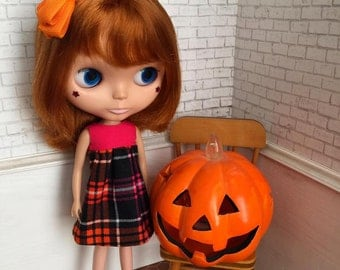 """Blythe Doll """"Sweet Halloween"""" Pink Top Smock Dress Collection"""