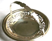 Vintage Silverpated Basket Elegant Traditional English Basket, Patisserie Tray, Cakes or Buiscuits Basket