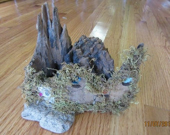 Fairy Garden Castle Woodland Dwelling Miniature One of a Kind Handcrafted Originsal