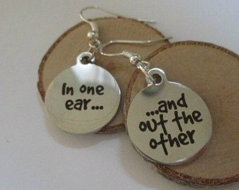 In One Ear Mismatched Earrings - one pair