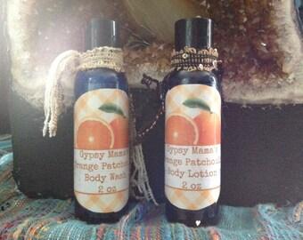 Orange Patchouli Body wash and Lotion kit