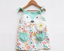 fox dress for baby girls for summer and weddings