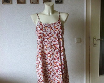 SALE 90s Red Floral Babydoll Dress