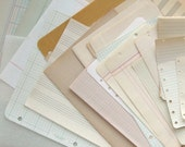 30 Pages of Vintage Blank Paper Lined Graph Music Staff Old Yellowed from Books & Pads Lot