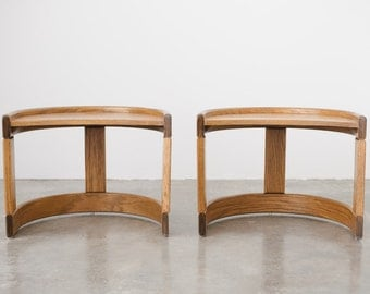 Pair of Mod Crescent Side or End Tables