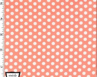 Peach Kiss Dots from Michael Miller