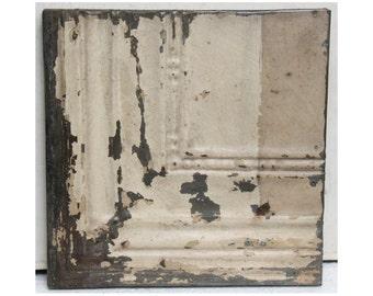 White tin panel