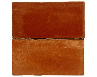 Set six small burgundy tiles