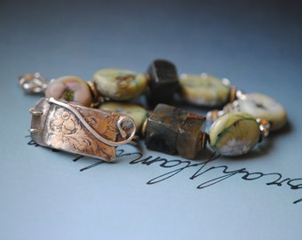 Simplicity  ..artisan made jewelry nature inspired with silversmith fabricated closure
