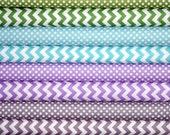Fat Quarter Fabric bundle for quilt or craft Riley Blake cool colorway Stash Builder bundle 8 Fat Quarters