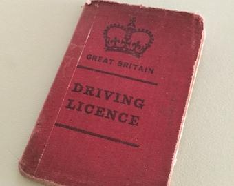 Vintage 1970s UK Driving Licence