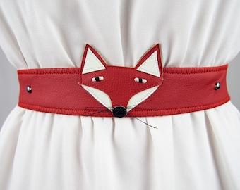Red Fox Belt ~ Handmade ~ Only 1 Left!