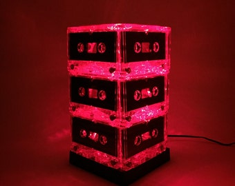Red Cassette Tape Lamp Mixtape Light