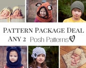 Crochet Patterns - Knitting Patterns - Discount Design Package - Choose ANY 2 - Crochet Patterns for Babies - Knitting Patterns for Women