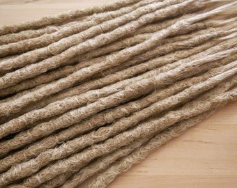 CUSTOM long crochet synthetic dreadlock extensions - natural look, single ended, long, 60 pieces.