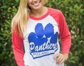 School Spirit Raglan tee Football Shirt Panthers
