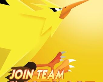 Team Instinct Propaganda Poster