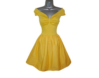 Adult Princess Belle Yellow Fancy Dress Costume (UK 12) (US 8) (EUR 44) Ladies Womens Beauty Ball Gown